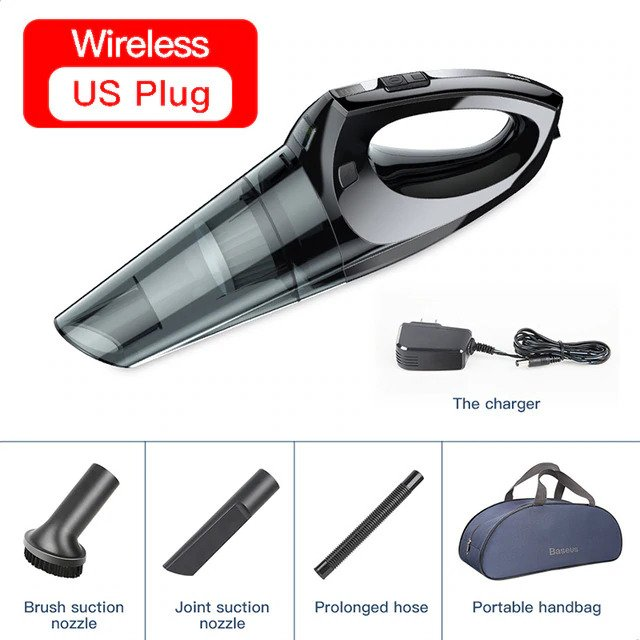 Baseus Handheld Car Vacuum Cleaner 12V DC Car Interior Cleaner For Car Portable Wireless 4000Pa Auto Car Vacuum Cleaner In Home