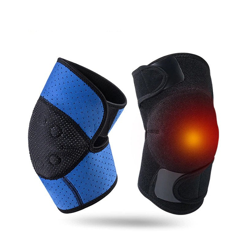 2 PCS Self-heating Knee Protector Warmer Adjustable Tourmaline Magnetic Therapy Knee Pads Support with Patella Stabilizer Brace