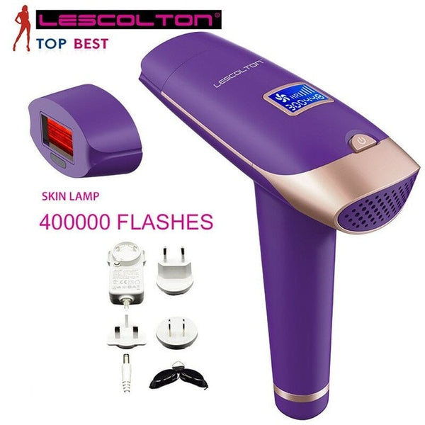 LESCOLTON 4IN1 Laser Hair Epilator LCD Display Depilador Permanent Hair Removal Device Laser Home 1000000 Light Pulses Epilator