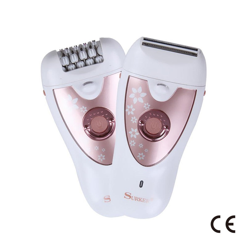 CE Certification Sk-513 Shaving Plucking Dual Purpose Epilator Washable Blade Wet And Dry Dual Purpose LED Light Illumination