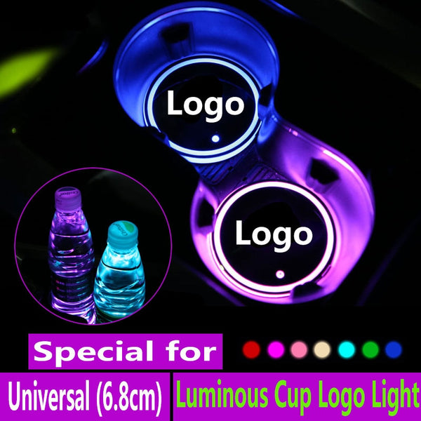 LED car mats (7 colors): Waterproof and powered by USB cable