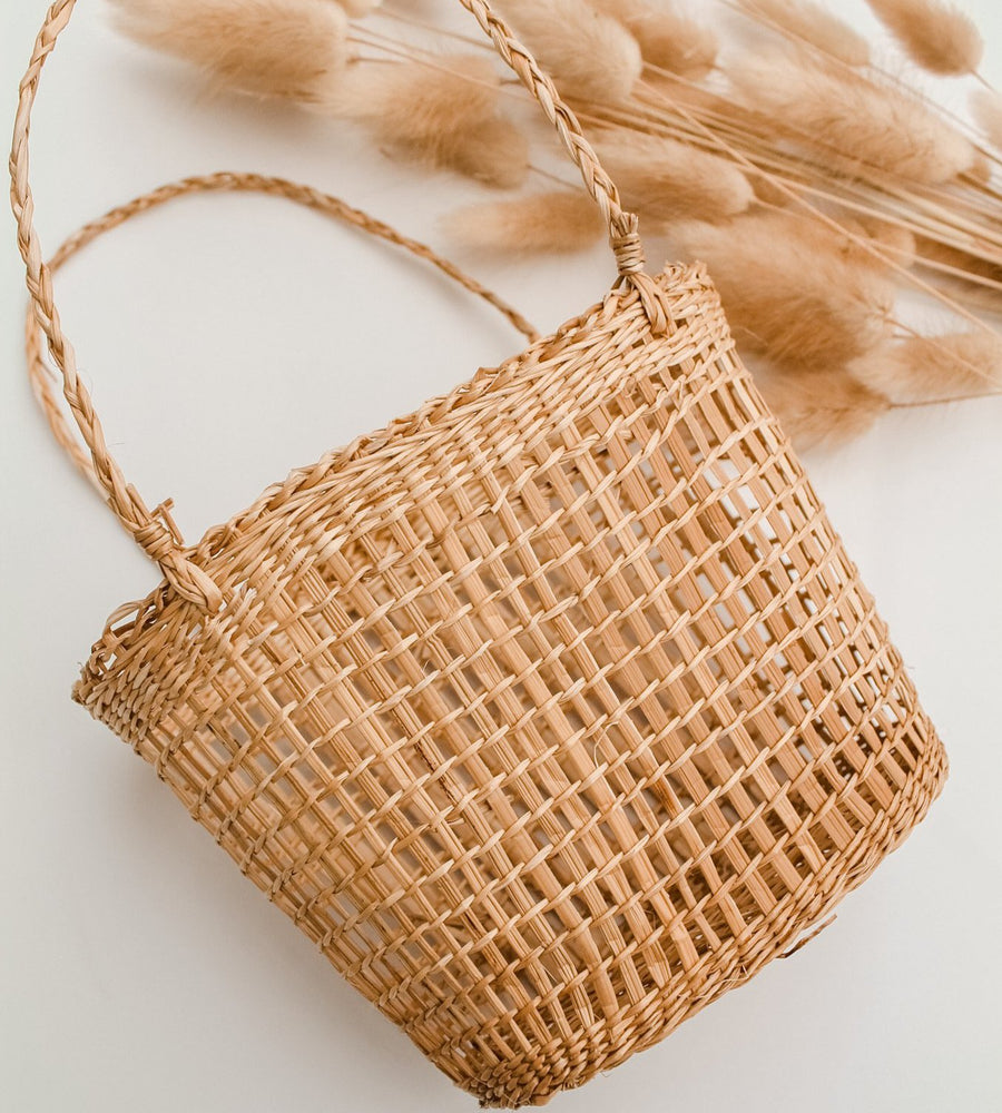 Just Beachy Mini Rattan Basket