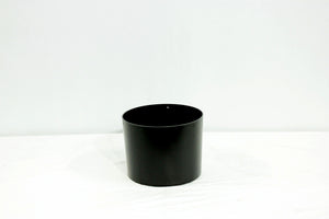 Black Standard Cylindrical Decorative Pots