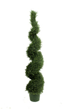 Load image into Gallery viewer, Spiral Evergreen Topiary