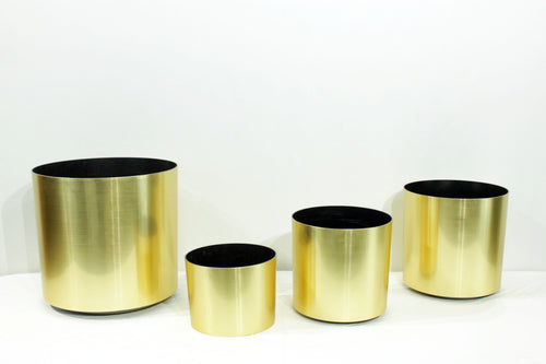 Gold Standard Cylindrical Decorative Pots