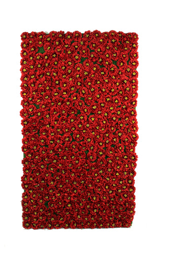 Red Impatiens Flower Panels and Walls