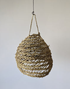 Palm Fiber Light Suspension - Globe