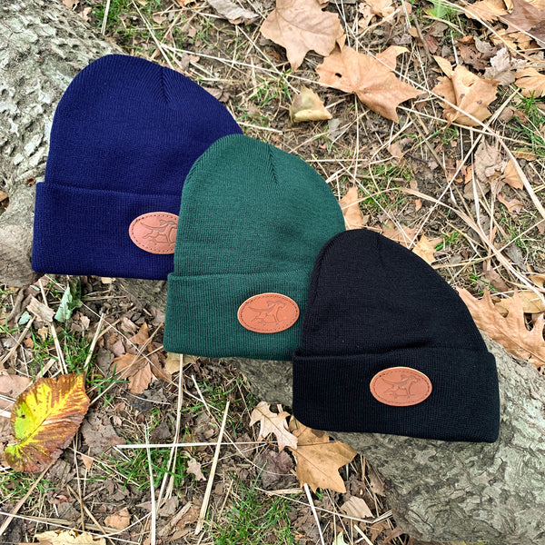 Beanie with Skate Dog Leather Patch