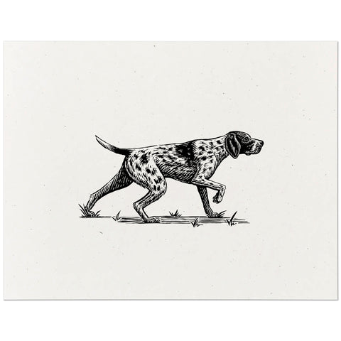 German Shorthaired Pointer Print