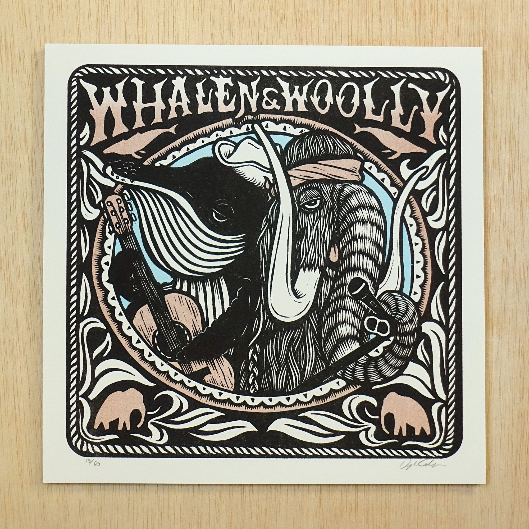 Whalen and Woolly Print