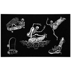 Skeleton Skaters Flash Sheet