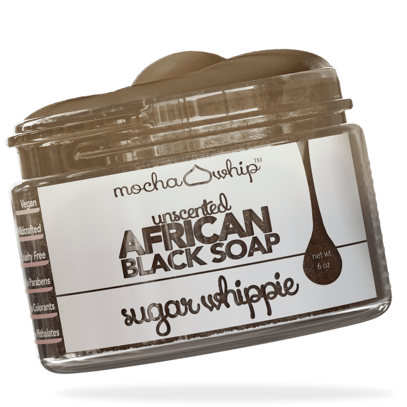 Mocha Whip African Black Soap Sugar Whippie, Unscented voted best whipped shea butter body butter handmade vegan