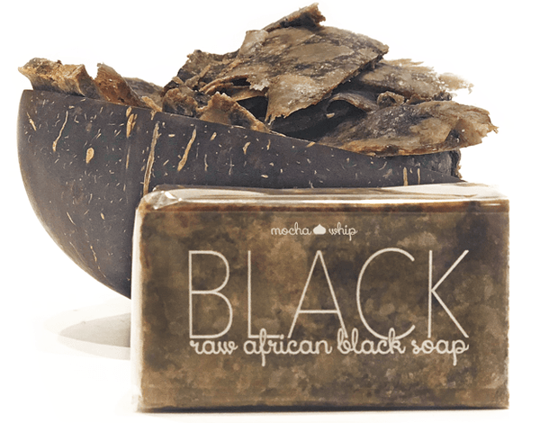 Mocha Whip Raw African Black Soap Bar ON SALE! voted best whipped shea butter body butter handmade vegan