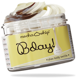 Mocha Whip Shea Body Swirlie, Bday voted best whipped shea butter body butter handmade vegan