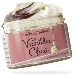 Mocha Whip Shea Body Swirlie, Vanilla Chai voted best whipped shea butter body butter handmade vegan