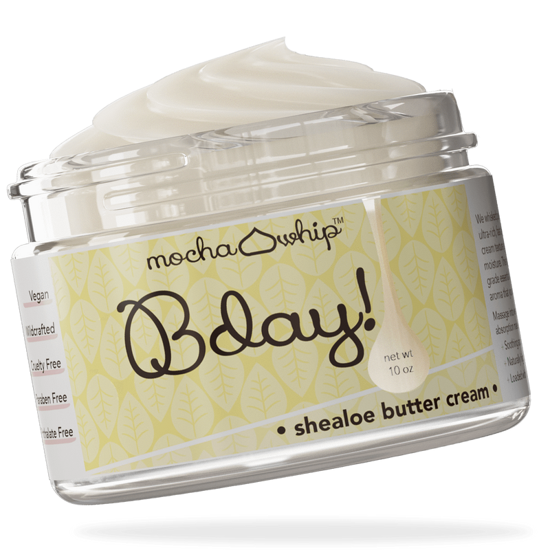 Mocha Whip Shealoe Butter Cream, Bday! voted best whipped shea butter body butter handmade vegan