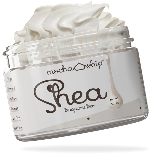 Mocha Whip Whipped Shea Butter Softie, Fragrance Free voted best whipped shea butter body butter handmade vegan