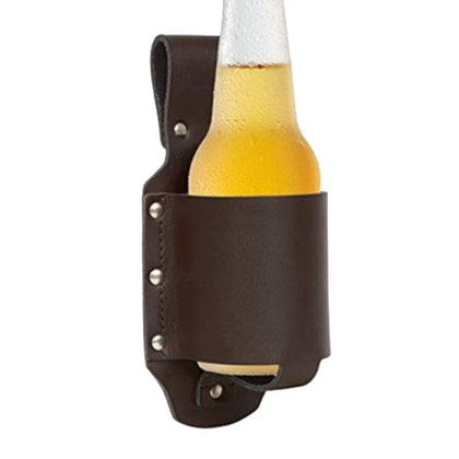 Waist Hiking Bottle Holster PU Leather Holder