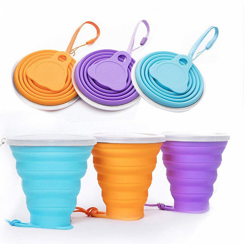 270ml Silicone Travel Retractable Folding Cup