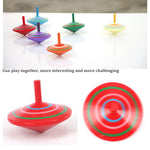Wooden Colorful Spinning Top montessori Toy
