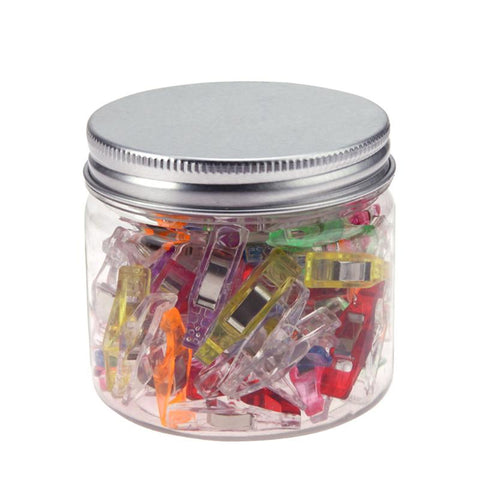 20/50Pcs Mixed Plastic Wonder Clips Holder