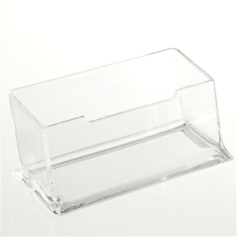 Clear Note Desktop Business Card Holder