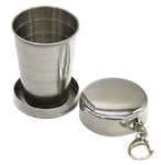 1Pcs Stainless Steel 75ml Folding Cup Tool Kit