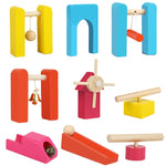 120 Pcs/set Wooden Domino Institution Accessories