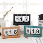 Wooden Table Desktop Calendar Ornaments