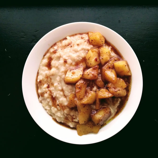 """Candied"" Apple Oatmeal."
