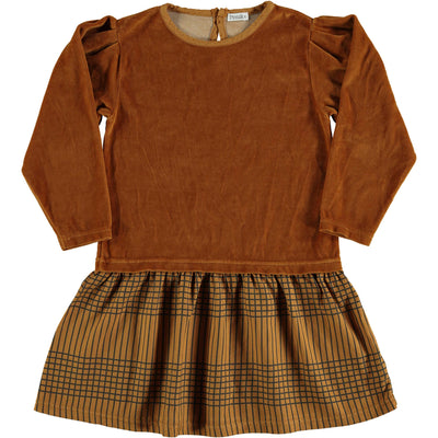 Picnik Brown Velvet Waisted Dress