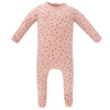 Ely's & Co. Pink Floral Footie