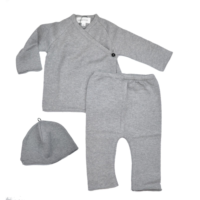 Tocon Grey Knit Side Wrap Set
