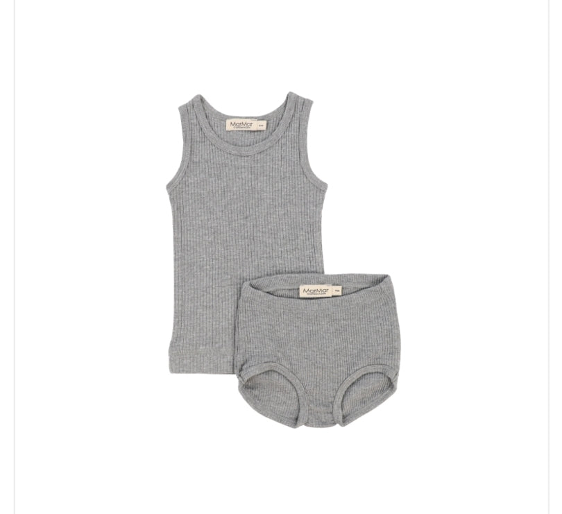 MarMar Copenhagen Gray Sleeveless Tank and Bloomer Set