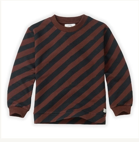 Sproet & Sprout Chocolate Stripe Sweatshirt