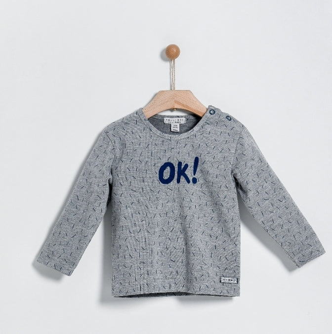 "Yell Oh Grey ""OK"" T-Shirt"