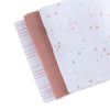 Ely's & Co. Cotton Muslin Swaddle 3 Pack Mauve Pink Stripes + Solid+ Stars