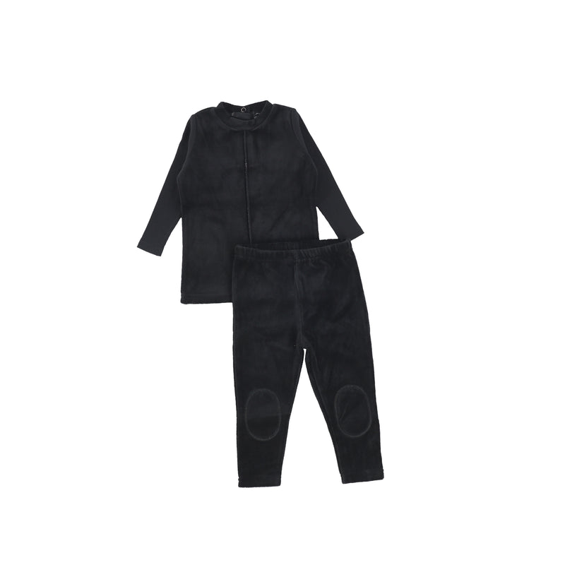 Bee and Dee Black Velour Loungewear