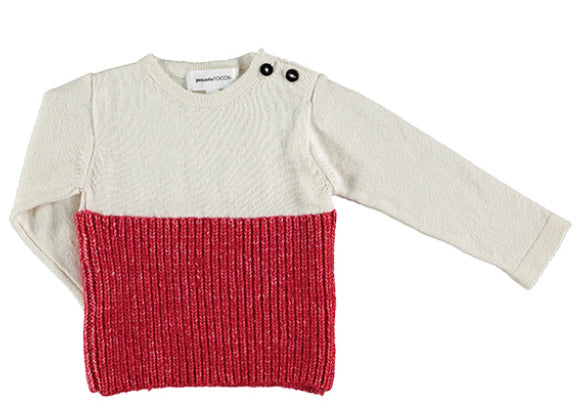 Tocon Natural/Red Knit Set