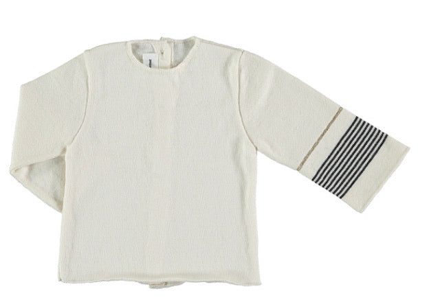 Tocon Cream/Stripe Knit Set