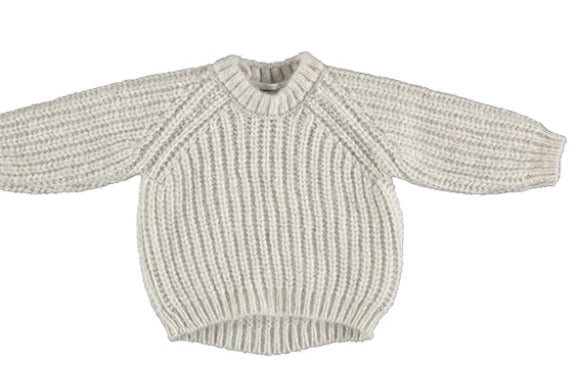 Tocon  Natural Chunky Knit Sweater