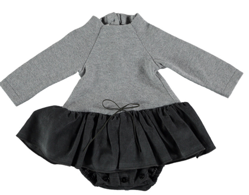 Tocon Grey Baby Knit Romper