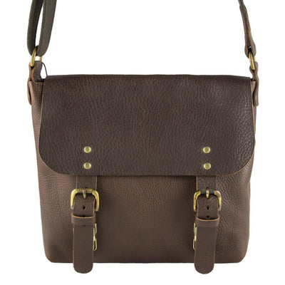 Dexter Medium Leather Satchel Brown-Village Leathers-Blue Water Clothing