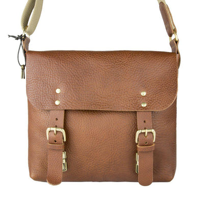 Dexter Medium Leather Satchel Tan-Village Leathers-Blue Water Clothing