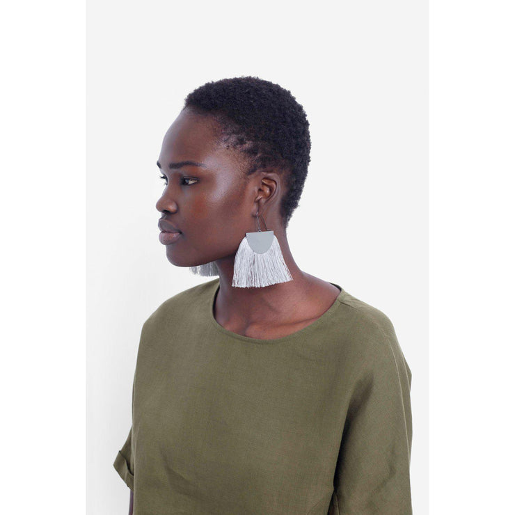 Elk Holm earings grey.-Elk-Blue Water Clothing