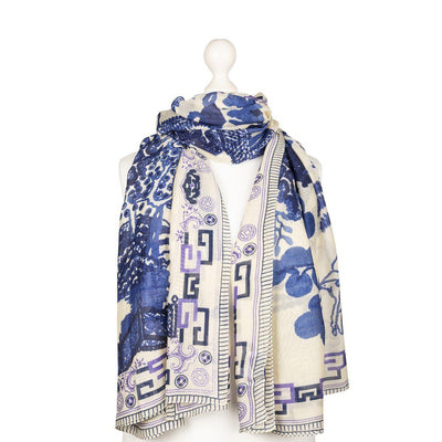 One Hundred Stars Giant Willow Scarf-One Hundred Stars-Blue Water Clothing