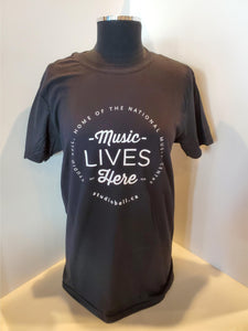 Music Lives Here Crew-Neck T-Shirt