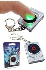 Turntable Light-Up Keychain