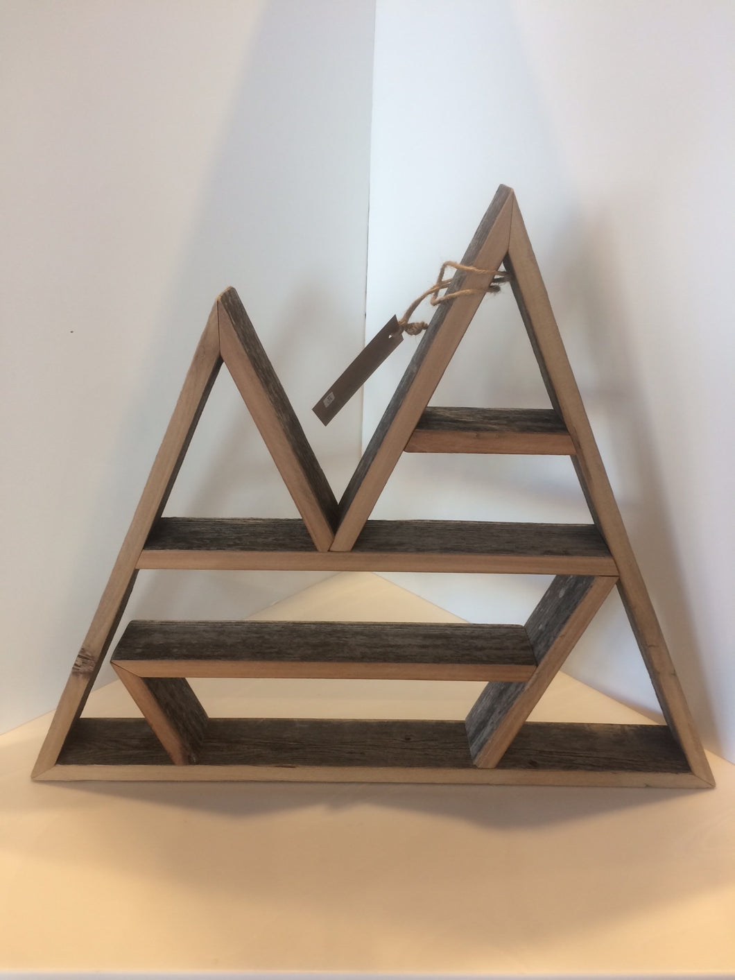 Wooden Wall Hanging Two Point Mountain