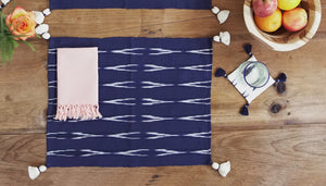 Navy blue cotton placemat